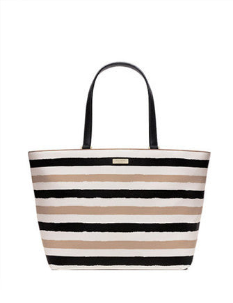 Kate Spade New York Grant Street Jules Grainy Vinyl Striped Tote