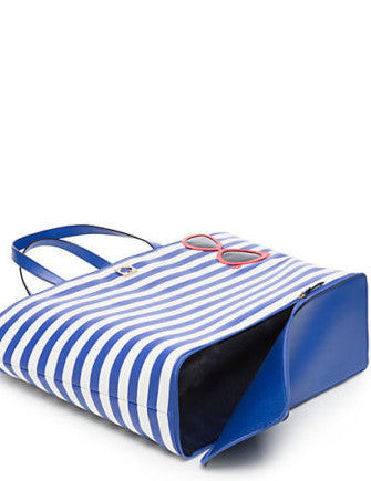 Kate Spade New York Make a Splash Rey Stripe Sunglasses Beach Tote