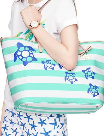 Kate Spade New York Breath Of Fresh Air Turtles Harmony Baby Bag