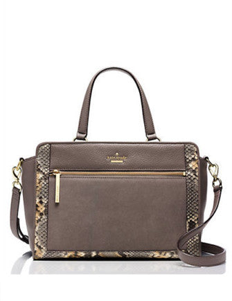 Kate Spade New York Chatham Lane Python Embossed Harlan Satchel