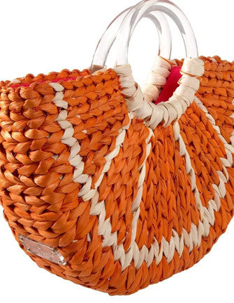 Kate Spade New York Orange Slice with a Twist Woven Tote