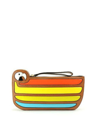 Kate Spade New York Macaw Parrot Cay Bird Leather Clutch