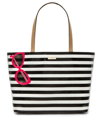 Kate Spade New York Splash Out Stripe Sunglasses Francis Tote