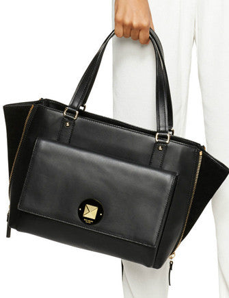 Kate Spade New York Varick Street Leather Suede Austin Tote