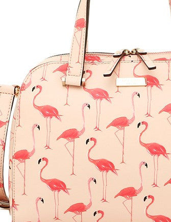 Kate Spade New York Small Felix Newbury Lane Flamingo Satchel