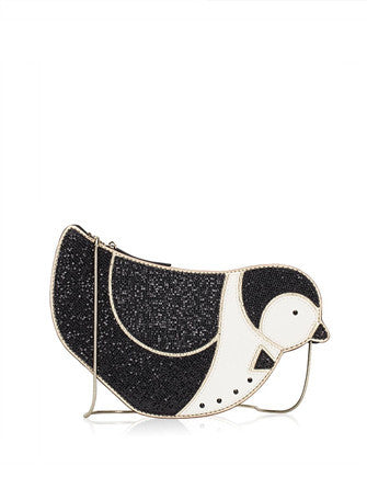 Kate Spade New York Black Clifton Lane Penguin Crossbody