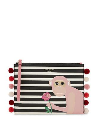 Kate Spade New York Rambling Roses Monkey Medium Bella Clutch