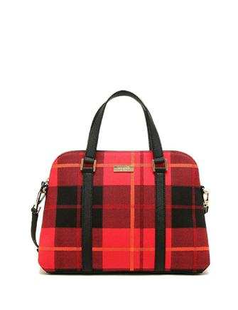 Kate Spade New York Newbury Lane Plaid Small Rachelle Satchel