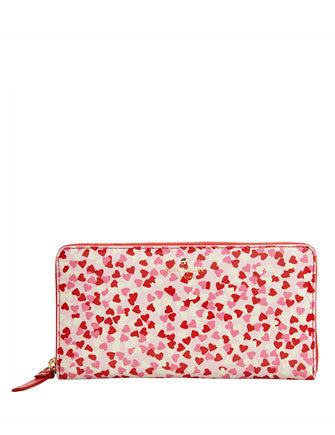 Kate Spade New York Secret Admirer Confetti Heart Lacey Wallet