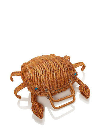 Kate Spade New York Splash Out Crab Wicker Handbag