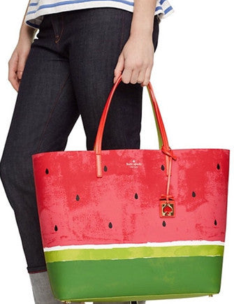 Kate Spade New York Len Make a Splash Watermelon Tote