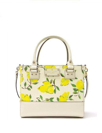 Kate Spade New York Wellesley Lemon Fabric Small Quinn Satchel