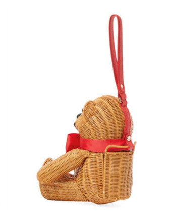 Kate Spade New York Flavor Of The Month Wicker Teddy Bear