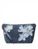 Michael Michael Kors Denim Medium Floral Applique Wristlet Pouch