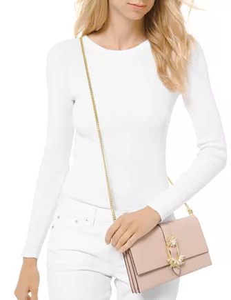 Michael Michael Kors Cece Large Convertible Leather Clutch Crossbody