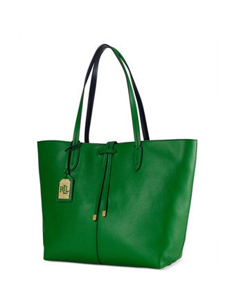 Lauren Ralph Lauren Crawley Unlined Leather Shoulder Tote