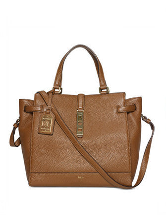 Lauren Ralph Lauren Darwin Pebble Leather Tote