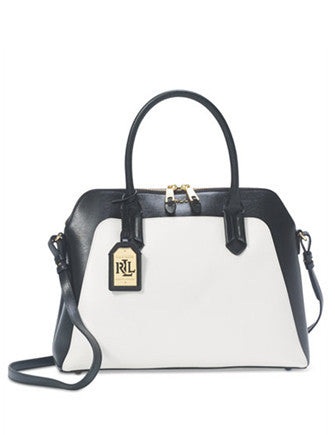 Lauren Ralph Lauren Tate Color Block Dome Satchel