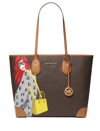 Michael Michael Kors Leather Eva Tote