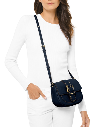 Michael Michael Kors Lillian Buckle Leather Small Crossbody Bag