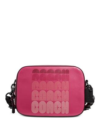 Coach Logo Leather Camera Bag