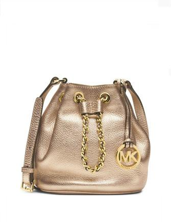 Michael Michael Kors Small Frankie Metallic Leather Crossbody