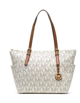 15d42edc6420 Michael Michael Kors Large Jet Set East West Zip Top Signature Tote ...