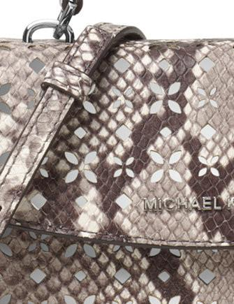 Michael Michael Kors Ava Mini Perforated Python Embossed Crossbody