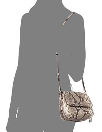 Michael Michael Kors Python Embossed Isabel Small Messenger