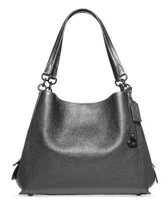 Coach Polished Metallic Leather Dalton 31 Shoulder Bag