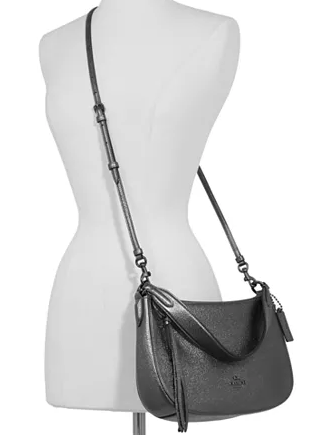 Coach Metallic Leather Sutton Crossbody
