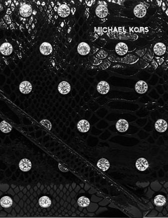Michael Michael Kors Adrienne Crystal Large Zip Clutch