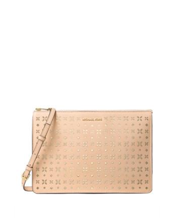 Michael Michael Kors Ava Large Convertible Perforated Pouch Crossbody