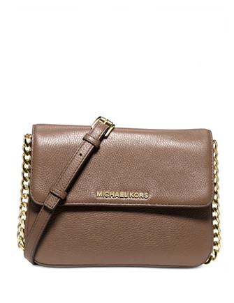 Michael Michael Kors Leather Bedford Double Gusset Crossbody