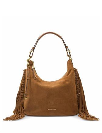 Michael Michael Kors Billy Large Suede Fringe Hobo