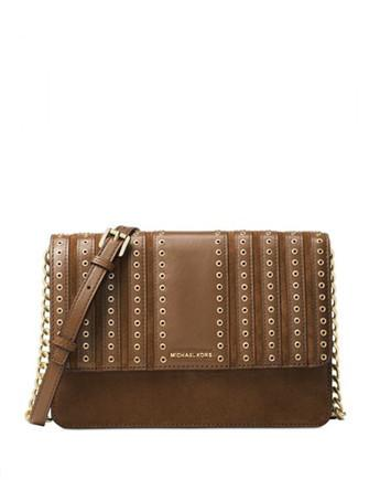 Michael Michael Kors Brooklyn Grommet Large Crossbody Clutch