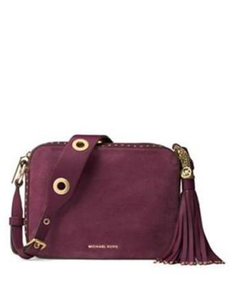 Michael Michael Kors Brooklyn Suede Large Camera Bag