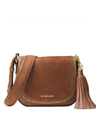 Michael Michael Kors Brooklyn Suede Medium Saddle Bag