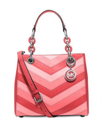 Michael Michael Kors Cynthia Chevron Small North South Satchel
