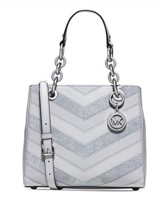 Michael Michael Kors Cynthia Small Chevron North South Satchel