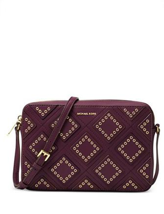 Michael Michael Kors Diamond Grommet Jet Set Travel Large East West Crossbody