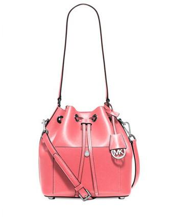 Michael Michael Kors Greenwich Medium Saffiano Leather Bucket Bag