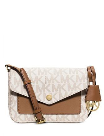 Michael Michael Kors Greenwich Small Signature Flap Crossbody
