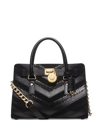 Michael Michael Kors Hamilton Mixed Media East West Satchel