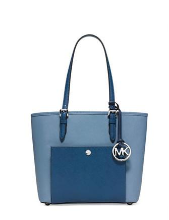 Michael Michael Kors Jet Set Item Medium Snap Pocket Tote