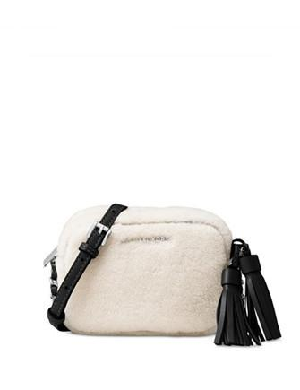 Michael Michael Kors Jet Set Travel Small Shearling Crossbody