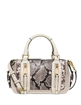 Michael Michael Kors Julia Small Python Embossed Satchel