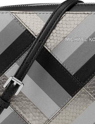 b20718289df4 Michael Michael Kors Marquetry Patchwork Jet Set Large EW Crossbody ...
