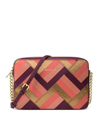Michael Michael Kors Marquetry Patchwork Jet Set Large EW Crossbody
