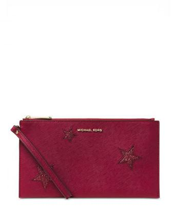Michael Michael Kors Peek A Boo Large Zip Clutch